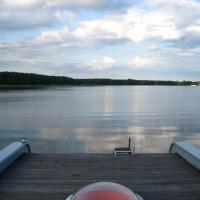 Abendstimmung auf dem Loftboot Sonnendeck